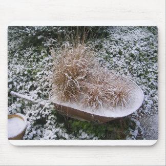 Cojín de ratón del barril de la nieve alfombrillas de ratón