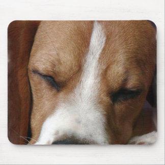 Cojín de ratón del beagle el dormir alfombrilla de raton