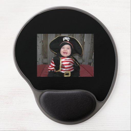 cojín de ratón del bebé del pirata alfombrilla de ratón con gel