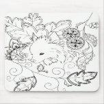 Cojín de ratón del bosquejo de Pomeranian Tapetes De Ratones