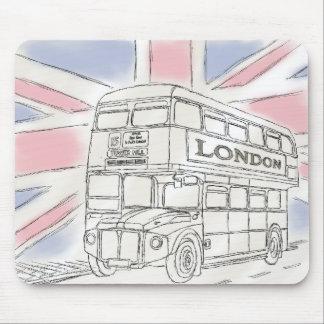 Cojín de ratón del bosquejo del autobús de Londres Alfombrilla De Ratones