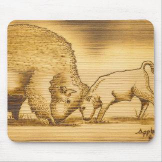 Cojín de ratón del búfalo del artista de Lakota de Alfombrilla De Ratones