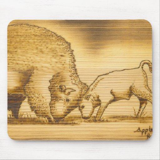 Cojín de ratón del búfalo del artista de Lakota de Tapetes De Ratón