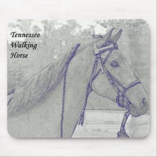 Cojín de ratón del caballo de Tennessee que camina Tapete De Ratón