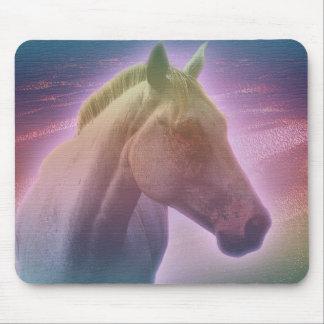 Cojín de ratón del caballo Whitehorse01 Alfombrilla De Ratones