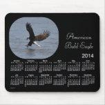 Cojín de ratón del calendario de 2014 Eagle calvo Alfombrillas De Raton