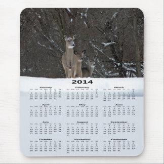 Cojín de ratón del calendario de la familia 2014 d alfombrillas de raton