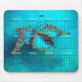 Cojín de ratón del calendario de la hoja de arce 2 tapetes de ratón