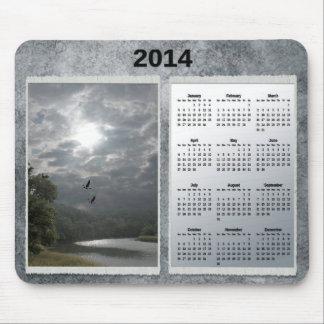 Cojín de ratón del calendario de la tierra y del r tapete de raton
