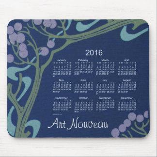 Cojín de ratón del calendario de Nouveau 2016 del Alfombrillas De Raton