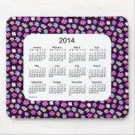 Cojín de ratón del calendario del flower power 201