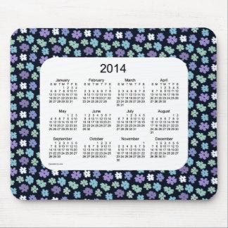 Cojín de ratón del calendario del flower power 201 alfombrilla de ratones