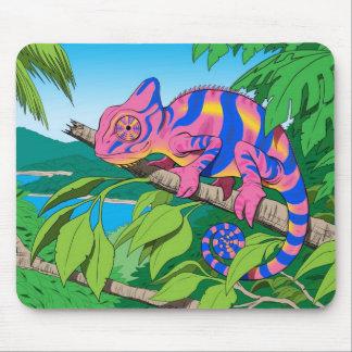 cojín de ratón del camaleón del calypso tapete de ratón