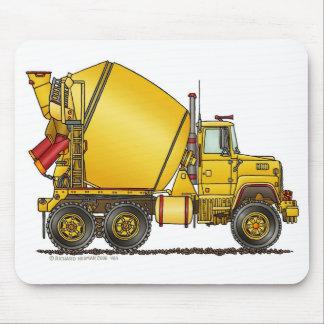 Cojín de ratón del camión del mezclador concreto alfombrilla de raton