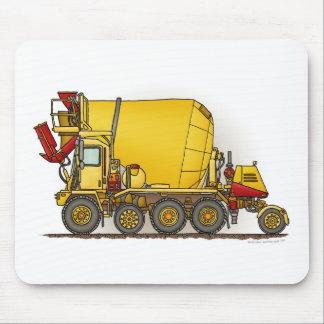 Cojín de ratón del camión del mezclador de cemento tapete de ratones