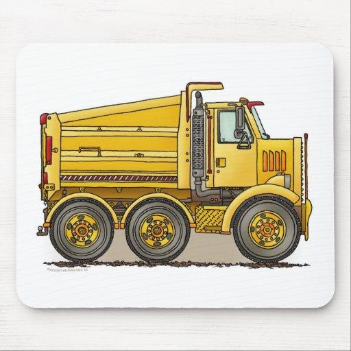 Cojín de ratón del camión volquete de la carretera alfombrillas de ratones