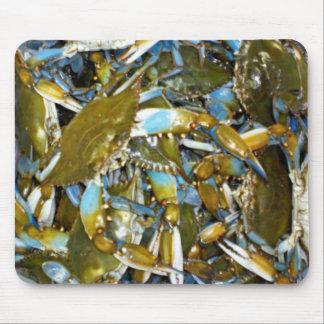 cojín de ratón del cangrejo azul mousepads