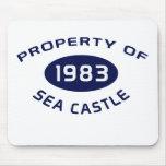Cojín de ratón del castillo del mar tapete de raton