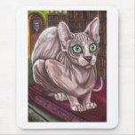 Cojín de ratón del CAT de la BIBLIOTECA de SPHNIX Alfombrilla De Ratones
