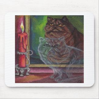 Cojín de ratón del CAT PERSA del FANTASMA Alfombrillas De Ratón