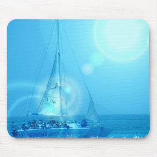 Cojín de ratón del catamarán de la navegación tapete de ratones