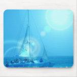 Cojín de ratón del catamarán de la navegación tapete de ratón