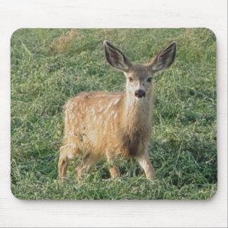 Cojín de ratón del cervatillo del ciervo mula D001 Alfombrillas De Ratón