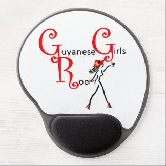 Cojín de ratón del chica de Guyana Alfombrillas De Raton Con Gel