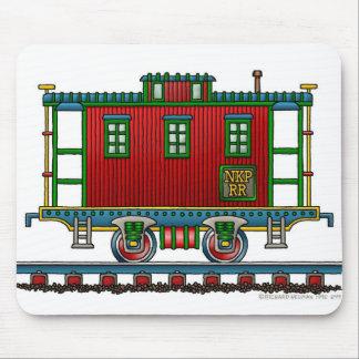 Cojín de ratón del coche del Caboose del tren Alfombrillas De Ratones