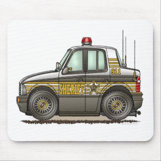 Cojín de ratón del coche patrulla del coche del sh tapete de raton