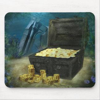 Cojín de ratón del cofre del tesoro tapetes de raton