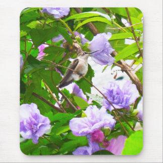 Cojín de ratón del colibrí 2 (vertical) tapete de ratón
