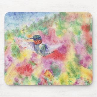 Cojín de ratón del color de agua del colibrí de DN Tapetes De Ratón