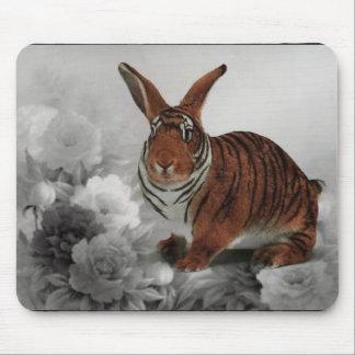 Cojín de ratón del conejito del tigre mousepads