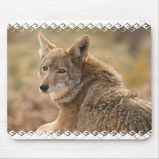Cojín de ratón del coyote alfombrilla de raton