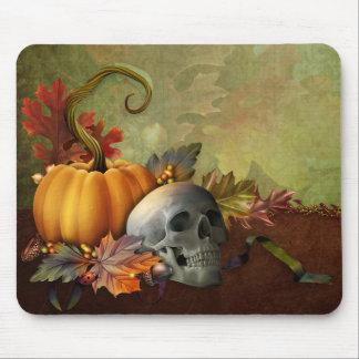 Cojín de ratón del cráneo de Halloween Alfombrilla De Ratón