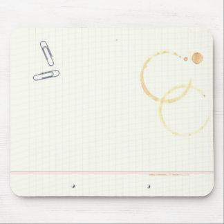 Cojín de ratón del cuaderno de notas alfombrillas de raton