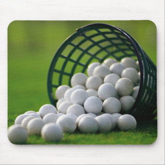 Cojín de ratón del cubo de las pelotas de golf tapetes de raton