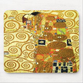 Cojín de ratón del cumplimiento de Gustavo Klimt Alfombrillas De Raton