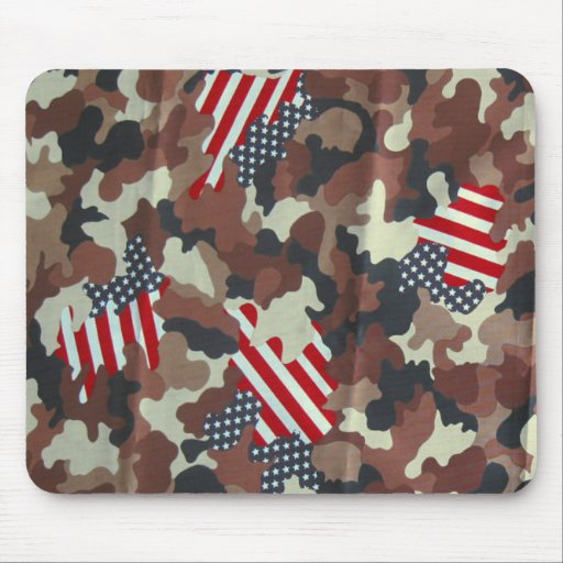 Cojín de ratón del ~ de la bandera americana de Ca Alfombrillas De Ratones