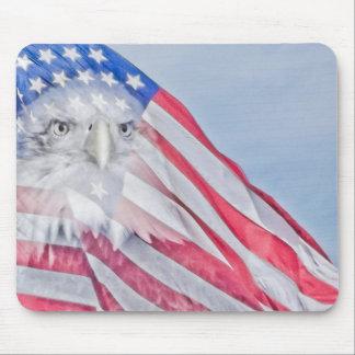 Cojín de ratón del ~ de la bandera americana y de  alfombrilla de raton