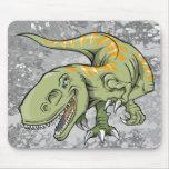 Cojín de ratón del dinosaurio de Rex del Tyrannosa Tapete De Ratón