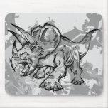 Cojín de ratón del dinosaurio del Triceratops   de Alfombrillas De Raton