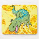 Cojín de ratón del dinosaurio del Tyrannosaurus Tapetes De Ratones