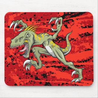 Cojín de ratón del dinosaurio del Velociraptor Tapetes De Raton