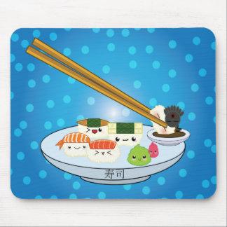 Cojín de ratón del disco del sushi de Kawaii Tapetes De Ratón