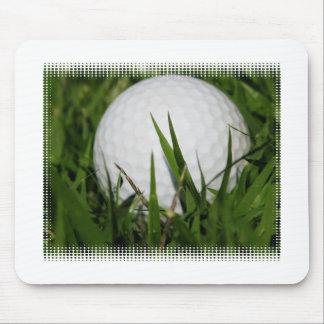 Cojín de ratón del diseño de la pelota de golf alfombrillas de ratón