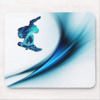 Cojín de ratón del diseño de la snowboard alfombrillas de raton