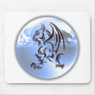 Cojín de ratón del diseño del mundo del dragón tapete de raton