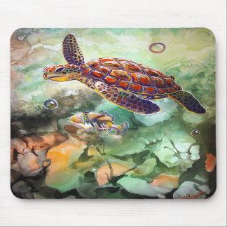 Cojín de ratón del disparador de la tortuga de mar mouse pad